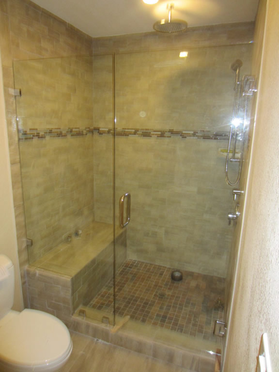 Glass Shower Enclosure - South Park San Diego - Patriot Glass and ...