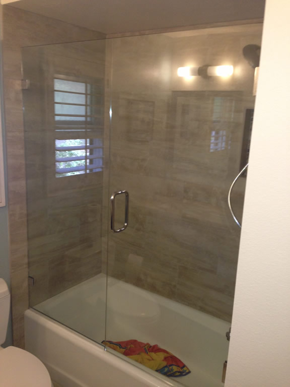 Over Tub Glass Enclosure - Patriot Glass and Mirror | San Diego CA
