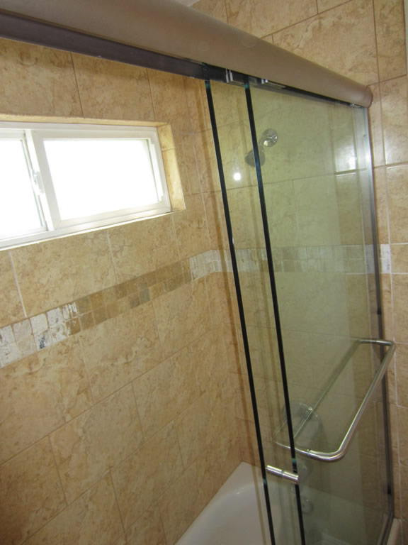 How To Install Sliding Shower Doors Image Cabinets And Shower