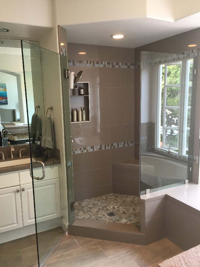 La Jolla Frameless Glass Shower Enclosure - Patriot Glass and Mirror ...