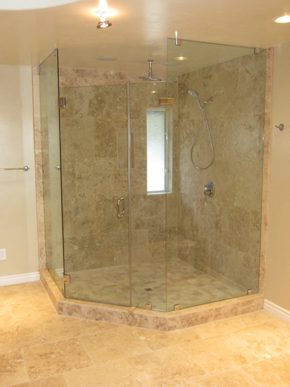 Neo Angle Shower Enclosure Frameless | Sevenstonesinc.com